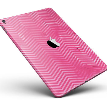 "The Vibrant Pink Layers of Chevron Full Body Skin for the iPad Pro (12.9"" or 9.7"" available)"