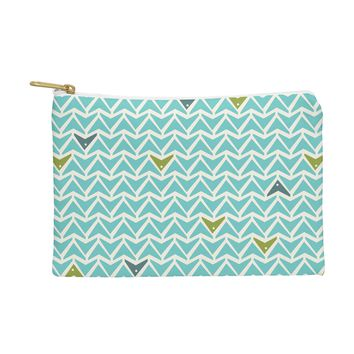 Heather Dutton Take Flight Aqua Pouch
