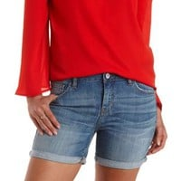 "Refuge ""Boyfriend Short"" Cuffed Denim Shorts"