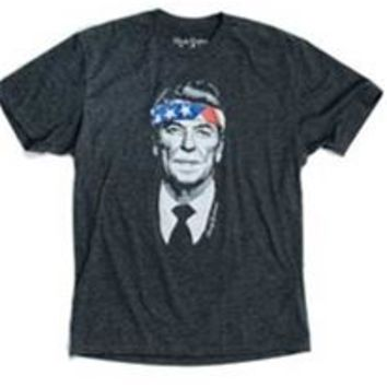 Rowdy Gentleman American Flag Rambo Reagan T-Shirt for Men SSV034-CHAR