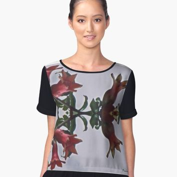 'Floral Flower Abstract art' Women's Chiffon Top by PaulahChaves