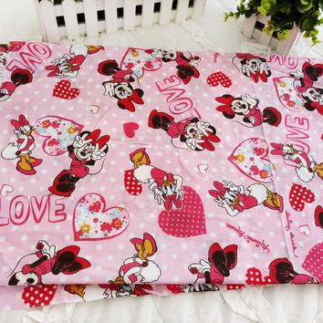 Daisy Duck Minnie Mouse Cotton Fabric for Sewing Patchwork Bedding Fabric DIY Baby Cloth Textiles 50*145cm