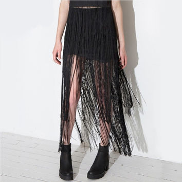 Women's new arrival high quality tassels short skirt = 1838484484
