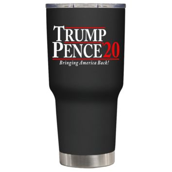 Trump Pence 2020 on Black 30 oz Tumbler