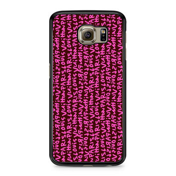 Louis Vuitton Stephen Sprouse Pink Samsung Galaxy S6 Case