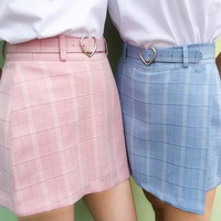 Plaid Candy Skirt