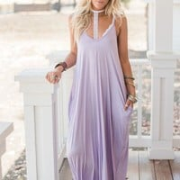 Perfection Pocket Maxi Dress - Lilac