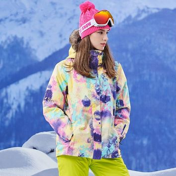 Quality Winter Snowboard Jacket Women Waterproof Windproof Outdoor Ski Jackets Women Breathable Hooded Coat XS- L