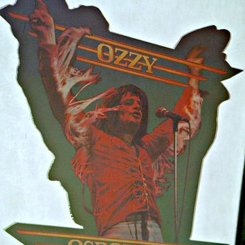 Original Vtg OZZY OSBOURNE 70s Heavy Metal t-shirt iron-on retro tee transfer nos black sabbath