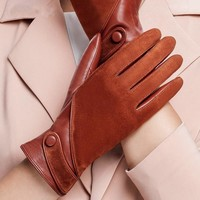 Women Leather & Suede Gloves