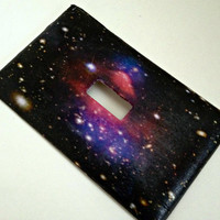 FREE SHIPPING--Single Light Switch Plate Cover--Galaxy Space, Celestial, Stars