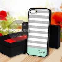 Teal Mint Stripes case for Samsung Galaxy S3,S4,S5/Note 2,3/iPod 4th 5th/iPhone 5,5s,5c,4,4s,6,6+[ M03 ] LG Nexus/HTC One