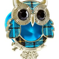 Scentportable Holder Plaid Applique Owl