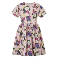 Tapestry Floral Cord Tulip Dress  - Rose For Girl - Their Nibs London