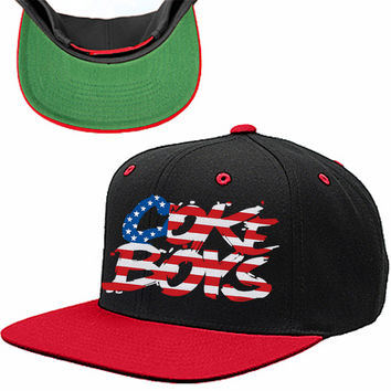 Coke Boys American Flag SNAPBACK HAT