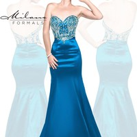 Milano Formals Beaded Sweetheart Neckline Dress E1842