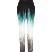 Black Design Forum faded skinny trousers