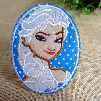 Queen Elsa Iron on Patch 72-HA