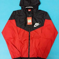 Nike Hooded Zip Cardigan Sweatshirt Jacket Coat Windbreaker Sportswear-1
