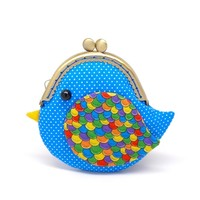 Supermarket: Cute ocean blue bird clutch purse from Misala Handmade Bags & Purses
