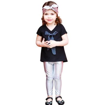 Toddler Kids Baby Imitation leather Legging Pants Fashion Trousers NO17 Drop shipping