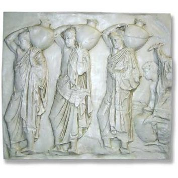 Urn Carriers from Parthenon Frieze Wall Relief Grande 47W - 8233