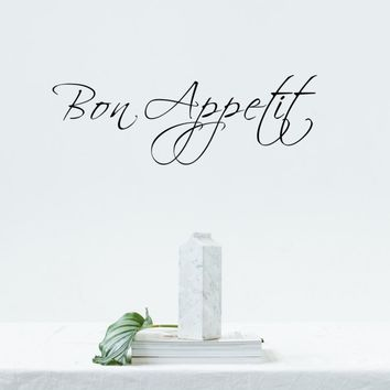 French word Bon Appetit Wall Decal Kitchen Vinyl Wall Sticker Dining Room Removable Wall Decor