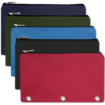 3 Ring Binder Pencil Case - 5 Colors - CASE OF 96
