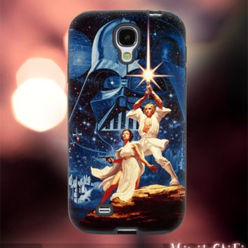 MC145Y,28,Star Wars ,Vintage ,Poster -Accessories case cellphone-Design for Samsung Galaxy S5 - Black case - Material Soft Rubber