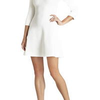 Danella Long-Sleeve Fit-and-Flare Dress