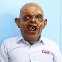 Ugly swollen eye weird face zombie scary mask new latex sloth goonies mask