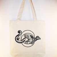 Ancient Dragon Talisman on 15x15 Canvas Tote with by Whimsybags