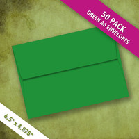 A6 Size GREEN Envelopes | Pack of 50