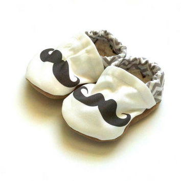 mustache baby clothes mustache shoes mustache by ScooterBooties