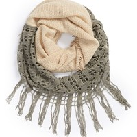 Junior Women's BP. Two Tone Open Weave Infinity Scarf