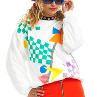 Vintage 80's Check Out My Art Sweatshirt - One Size Fits Many