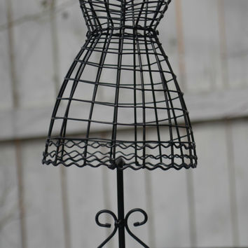 Tabletop Wire Form Decorative DRESS MANNEQUIN