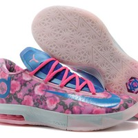 "Nike Zoom KD 6  Kevin Durant  Ⅵ ""Rose Blue""  Basketball Shoes"