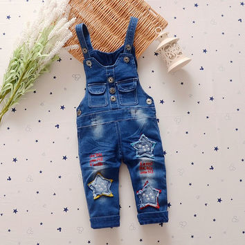 250c15b2600 Spring Autumn kids overall jeans clothes newborn baby denim overalls  jumpsuits for toddler infant boys girls