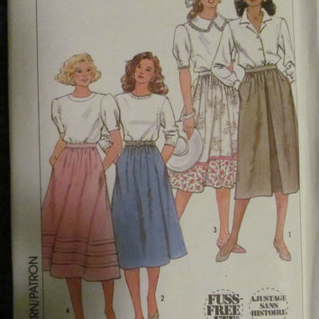 Uncut 1980's Simplicity Sewing Pattern, 9593! Size 6-8-10-12, Small/Medium, women's/misses, long skirts, summer/spring, hippie casual