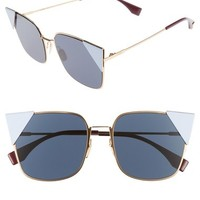 Fendi 55mm Tipped Cat Eye Sunglasses | Nordstrom