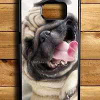 Smile Pug Dog Samsung Galaxy S6 Edge Case