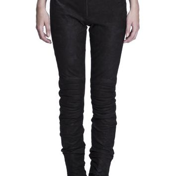 Lamb Leather Biker Jeans