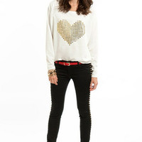 Cyber Love Raglan Terry Top $39