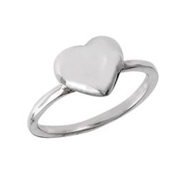Sterling Silver High Polished Small Heart Ring