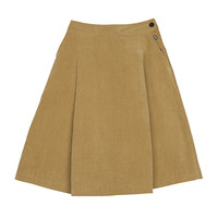 Basic Toned Corduroy Skirt
