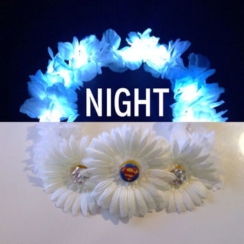 LED SUPERHERO THEMED Flower crown in Spiderman| Batman| Superman| Avengers