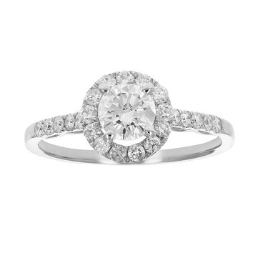 CERTIFIED | 1 CT Diamond Engagement Ring 14K White Gold