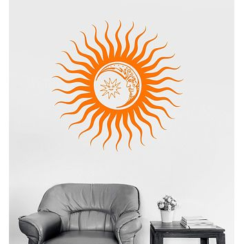 Vinyl Wall Decal Sun Moon Art Home Nursery Decoration Stickers Decor Unique Gift (ig3075)