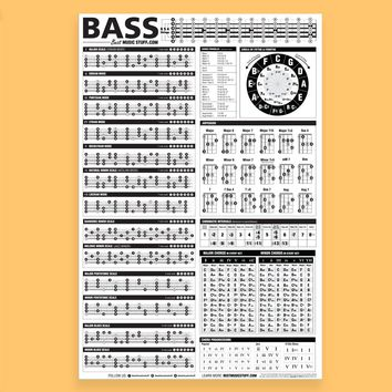 """The Essential Bass Theory Poster 24""""x36"""""""
